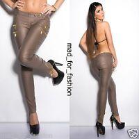 SEXY CAPUCHINO Pantalones Con Decorativos Cintura GB 8.10.12.14. EU 36.38.40.42