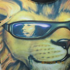 BOB MARLEY with LION IN SHADES 2XL ADULT T-SHIRT IMAGE ART BY MICHAEL SEARLE
