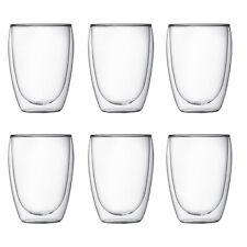 BODUM Pavina Set of 6 350ml Double Wall Glasses