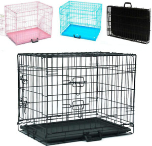 2 Door Wire Cage/Home, Folding Metal Dog Crate, Puppy Cage Pet Cage Puppy cage