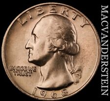 1968 Washington Quarter - Choice Gem Brilliant Uncirculated  #NR2663