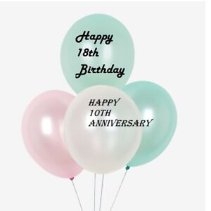 Personalised Balloon Vinyl Decal Stickers do it yourself Birthdays / Wedding etc