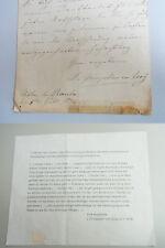 ORNITHOLOGIE Brief Louise Prinzessin von Croÿ, Château du Rœulx 1874 an Karl Ruß