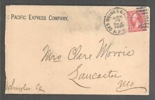 1901 RPO Cover w/ VERY RARE Wabash RR Pan American Exposition Sticker! Am Expo