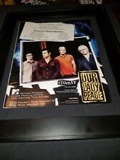 Our Lady Peace Clumsy Rare Original Radio Promo Poster Ad Framed! #3