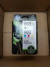 HP 902XL Black + 902 Cyan Magenta Yellow Genuine Ink Cartridge 4 Pack, ex 1/22