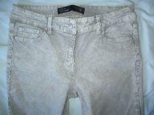 NEXT Black&White Striped Crop Fray Hem Jeans Size 12 W30 L25
