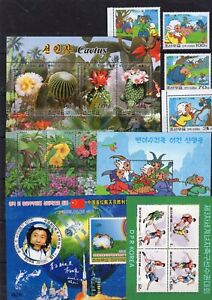 Flowers / Cactus / Cartoons / Football / Space on stamps MNH** C10