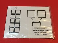 Ten Frame Mat - Laminated Dry Erase Mats