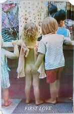 FIRST LOVE Color Photo Poster, Children.  1970's