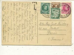 Belgium postage due card to France, 1927