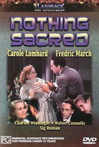 Nothing Sacred - Carole Lombard DVD. New
