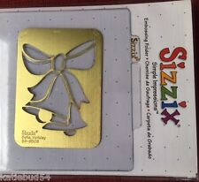 Bells Holiday Sizzix Embossing Folder #38-9509 Christmas NEW