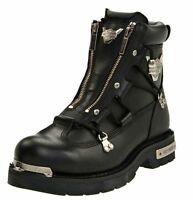 """Harley-Davidson® Men's 6.25"""" Brake Light Black Leather Motorcycle Boots D91680"""