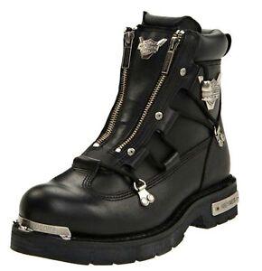 HARLEY-DAVIDSON FOOTWEAR Men's Brake Light Black Leather Motorcycle Boots D91680