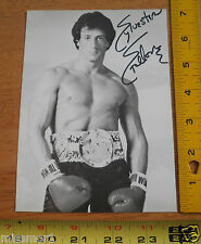 Rocky IV movie Promo 5x7 photo card Vintage boxing Sylvester Stallone signature