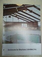Vtg Structures Unlimited Brochure~Kalwall Enclosures~Catalog