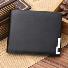 NEW Ultra-thin Bifold Wallet Men Leather Wallet Credit/ID Card Holder Slim Purse