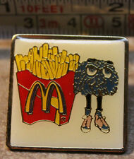 McDonalds Fry Guy with Fries Collectible Pinback Pin Button