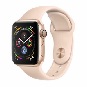 Apple Watch Series 4 GPS 40 mm Gold Aluminum Case with Pink Sand Sport Band