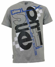 Sonneti Vibration Mens Cotton DESIGNER Casual T-shirt Top S - XL 2xl Athletic Grey Marl