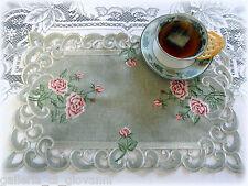 BELLA ROSA  Lace Doily Pink Rose Romantic Victorian