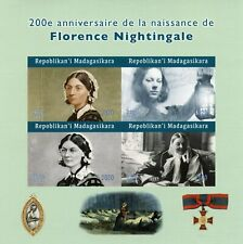 More details for madagascar medical stamps 2020 mnh florence nightingale famous people 4v impf ms