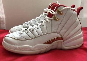 Nike Air Jordan 12 Retro (GS) FIBA White/University Red 153265-107 Size 6Y