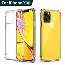 Para iPhone XR Xs Max X 8 7 360 ° a prueba de golpes Silicona Transparente Estuche Cubierta Protectora