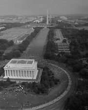 Aerial view of March on Washington at National Mall 1963 New 8x10 Photo