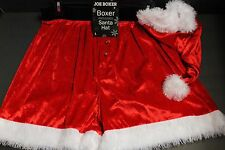2 pcs MEN'S JOE BOXER / Hat Christmas FULL CUT SHORTS UNDERWEAR Large ( 36-38 )