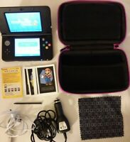Nintendo 3DS CTR-001 Black Console Super Mario Edition, Stylus, Case, Charger VG