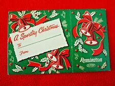 Original Vintage 1950s Remington Christmas Shell Box Gift Wrap Sleeve 12 Ga.