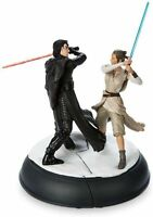 Art of Disney Parks Star Wars Kylo Ren Rey Lightsaber Figurine Resin Statue Set