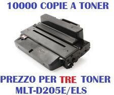 CARTUCCIA PER SAMSUNG ML-3710 ML-3712 SCX-5637 PREZZO PER 3 TONER MLT-D205E