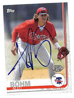 Alec Bohm in-person signed auto 2019 Topps Pro Debut rookie card Phillies