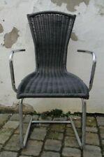 Hochlehner Schwingstuhl Flechtstuhl Kunststoffgesflecht chair Freischwinger