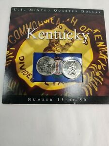 2001 Kentucky State Quarters Coins of America U.S. Minted Quarter Dollar
