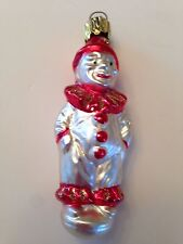 Vintage Mercury Glass Clown Christmas Ornament Germany
