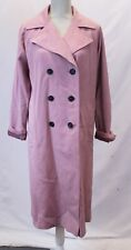 ASOS Women's Double Breasted Trench Coat GG8 Pink Size US:6 NWT