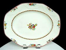 """J & G MEAKIN ENGLAND EMBOSSED FLORAL SWAGS & RIBS 12"""" SERVING PLATTER 1930-1949"""