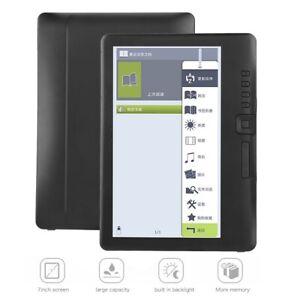 "BK7019 Digital eBook Reader 4GB/8GB/16GB 7"" TFT Color Screen w/TF Card Backlight"