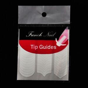 Nail Art Tip Guides Curved Half Moon French Manicure 51 Stickers 3 Styles
