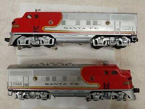 Lionel 2333-20 Santa Fe A-A locomotive set. Tested, see ad. (F38)