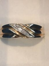 10KT YELLOW GOLD BAGUETTE DIAMOND WEDDING RING-SIZE 11