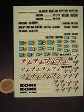 DECALS 1/24  BILSTEIN / KONI  - VIRAGES  T168
