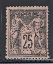 France Classic Type Sage N°97 25c Black on Pink New Value