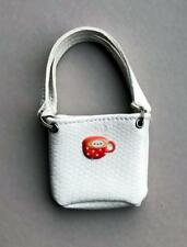 """White Faux Leather Bag For 12"""" Fashion Royalty, Silkstone~No Doll"""