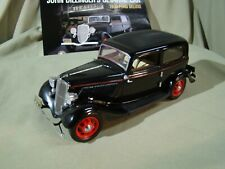 Franklin Mint 1933 John Dillinger's  Ford Deluxe Sedan w/Accessories Paperwork