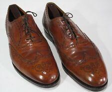 Edward Green Shoes for Paul Stuart Wingtip Brogues 11D US Burnished Tan 202 Last